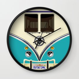 Blue teal minibus lovebug iPhone 4 4s 5 5c 6 7, pillow case, mugs and tshirt Wall Clock