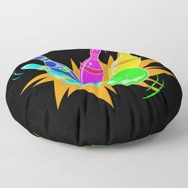 Neon Vintage Retro Strike Bowling. - Gift Floor Pillow