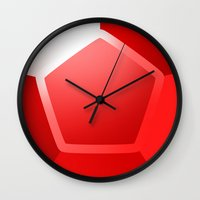 ruby Wall Clocks featuring ruby by tsynali
