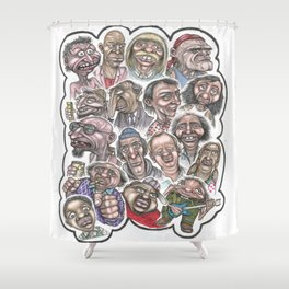 Eli's Day Off Shower Curtain