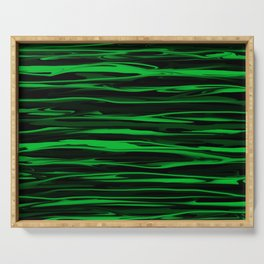 Apple Green Stripes Serving Tray