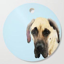 Great Dane Art - Dog Painting by Sharon Cummings Cutting Board