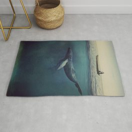 Old Sea and the Man Rug