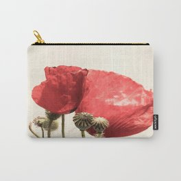 Poppies In Vase Carry-All Pouch