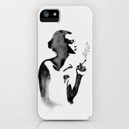 Smoker (Ink Painting) iPhone Case
