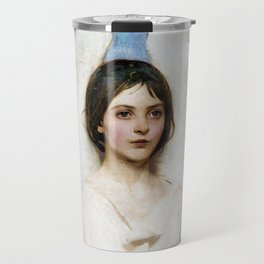 Beautiful Angel With White Wings Travel Mug
