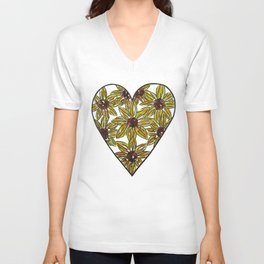 Sunflower Love Unisex V-Neck
