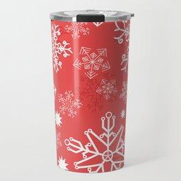 Christmas Snowflakes Travel Mug