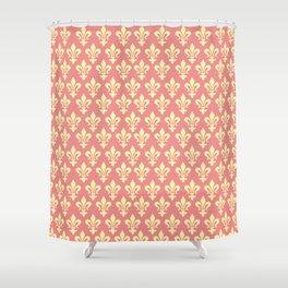 fleur de lis motif pattern Shower Curtain