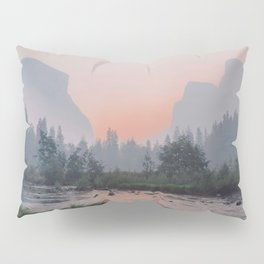 Yosemite Valley Sunrise Pretty Pink Pillow Sham