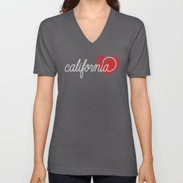 California Fingerprint Unisex V-Neck