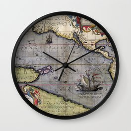Pacific Sea- Ortelius - 1589 Wall Clock