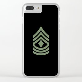1st Sergeant (Green) Clear iPhone Case