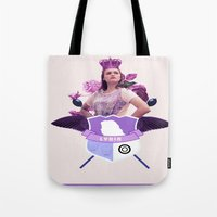 lydia martin Tote Bags featuring lydia by Papa-Paparazzi