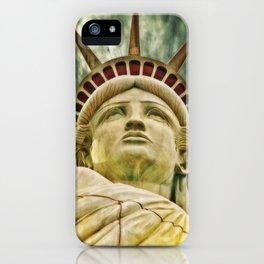 Liberty statue iPhone Case