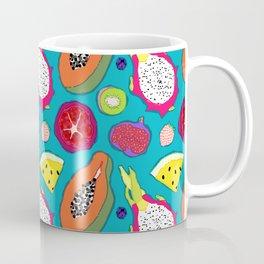 Seedy Fruits in Teal Blue Coffee Mug