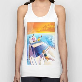 FAMILY ON YACHT Unisex Tank Top