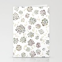 succulents Stationery Cards featuring Succulents by Kelli Murray