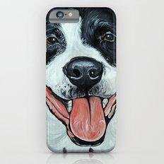 Black & White Adorable Pit Bull  iPhone 6s Slim Case
