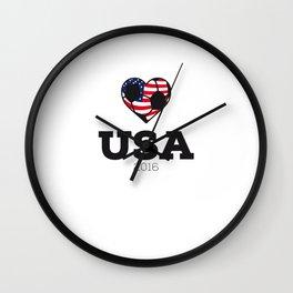 USA Soccer Shirt 2016 Wall Clock