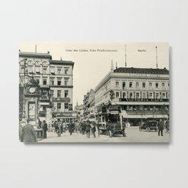 1900s Berlin Unter Den Linden Metal Print