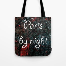 Paris by night colors couette urban fashion culture Jacob's 1968 Paris Agency Tote Bag