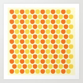 Dotty Pineapples - Singapore Tropical Fruits Series Art Print
