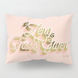 Zero F*cks Given – Blush & Gold Palette Pillow Sham