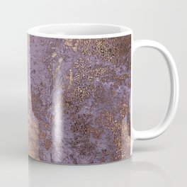 Purple and Copper Glamour Ink  Marble Texture Coffee Mug