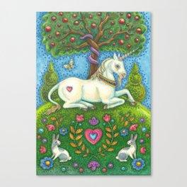 LAND OF EDEN UNICORN - Brack Eve's Garden Canvas Print