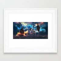 avatar the last airbender Framed Art Prints featuring Avatar: The Last Airbender - Aang @ Avatar State - Fan Art by Kenwoodh