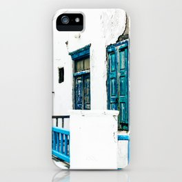 Out of the Blue | Mykonos, Greece iPhone Case