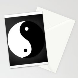 Yin and Yang BW Stationery Cards