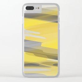 Orange and Grey Splash Clear iPhone Case