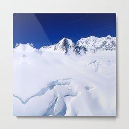 Snowy Slopes Metal Print