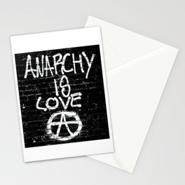 ANARCHY IS LOVE Stationery Cards