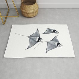 Devil fish Manta ray Mobula mobular Rug