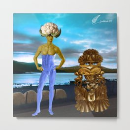 Cauliflower man Metal Print