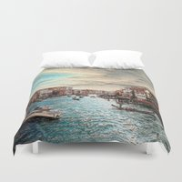 venice Duvet Covers featuring Venice by MehrFarbeimLeben