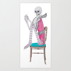 circus skeleton Art Print