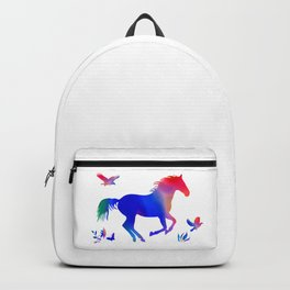 Rainbow horse Backpack