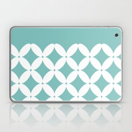 Abstract pattern - blue and white. Laptop & iPad Skin