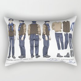 No. 3 Natalie Close character design, full color Rectangular Pillow