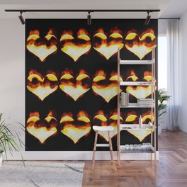 Burning hearts Wall Mural