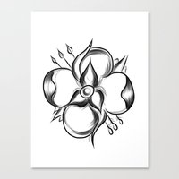 la dispute Canvas Prints featuring La Dispute Flower by LillianVH