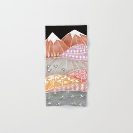 Tatry mountains, sheep watercolor landscape nature Hand & Bath Towel