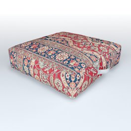 Mohtashem Kashan Central Persian Rug Print Outdoor Floor Cushion
