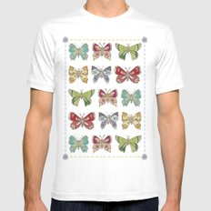 Butterfly butterfly White Mens Fitted Tee MEDIUM