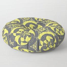 Dark grey and yellow Floor Pillow