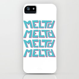 Melted, the solid typography. iPhone Case